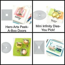 Hero Arts PEEK A BOO DOORS Mini Infinity Dies (Circle, Rectangle, Square, Oval)