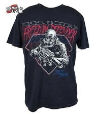 NWT AFFLICTION Black FREEDOM DEFENDER T-Shirt Mens Medium