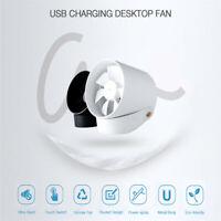 Creative Bucket Fan 2Motors Electronic Portable USB Charging 3  NEW