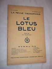 LA REVUE THEOSOPHIQUE - LE LOTUS BLEU (OCTOBRE 1946)