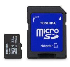 Toshiba Micro 32GB Secure Digital Micro SD W/ SD Adapter Class 10 Memory Card N