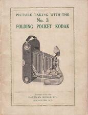 KODAK NO. 3 FOLDING POCKET KODAK INSTRUCTION BOOK-1912