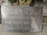 Bild Wandbild Unserem Hund gibt man keine Befehle...Shabby Chic Deko Landhaus