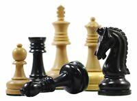 """Augusta Series Premium 4.125"""" Staunton Chess Pieces in Pure Ebony"""