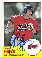 JOHN HICKS HIGH DESERT MAVERICKS SIGNED CARD SEATTLE MARINERS DETROIT TIGERS