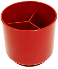 Cooler Kitchen Extra Large Rotating Utensil Holder with Sturdy No-Tip Weighted  