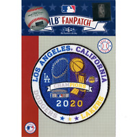 2020 Los Angeles Dodgers and Lakers Dual Champions Trophies Patch