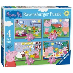 Ravensburger Peppa Pig Fun Days Out - 4 In a Box Jigsaw Puzzle Set Age 3+