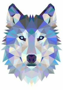 COOL WOLF FACE   IRON ON T SHIRT TRANSFER