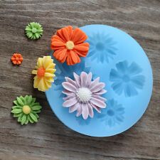 Daisy Flower Resin Clay Molds Kids DIY Mould Fondant Chocolate Candy Cake Tools