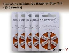 PowerOne Hearing Aid Batteries p312, SIZE: 312 (30 Batteries)