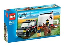 7635 4WD WITH HORSE TRAILER city town lego NEW sealed legos set