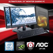 "Origin PC Dual 24"" Monitor Ultimate Gaming PC INTEL i7, 4.2GHz , nVIDIA 1050 2GB"