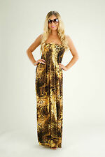 Yellow Feather Elasticated Maxi Dress