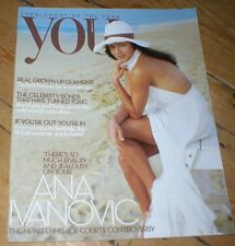 Tennis star ANA IVANOVIC rare YOU magazine UK 2009 Austin Healey