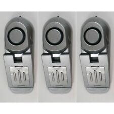 3x Türstopper mit Alarm Tür-Stopper Türalarm Alarmanlage für Türen Türkeil 2in1