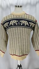 LL Bean Norwegian Wool Sweater Polar Bear Fisherman Chunky Knit Vintage Men's XL