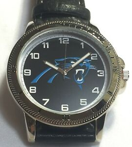 New Carolina Panthers Sparo Classic Men's Sports Watch with Black Leather Band