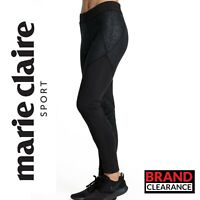 Black Print Leggings Fashion Marie Claire Sport Ladies Tights Gym RRP: £59.99