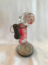 "Vintage UNIQUE JEANNETTE GLASS ""ANTIQUE TELEPHONE"" CANDY CONTAINER c.1942"