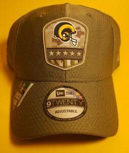 New Era LA Rams Salute to Service Sideline 9TWENTY Adjustable Hat