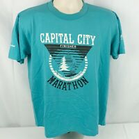 Vintage 1986 Capital City Marathon L Shirt Pacific Northwest Jerzees Running