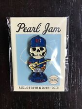 Pearl Jam 2018 Wrigley Chicago Skully Enamel Pin Limited Edition