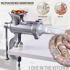 Big Alloy 12 Manual Multi Meat Grinder Mincer Sausage Filler Chopper Table Maker