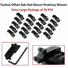 20x Tactical Offset Side Rail Mount Picatinny Weaver Angle Scope Sight 45 degree