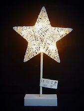 LED estrellas de Adviento Ratán Lámpara pie con Soporte Ø 22 Navidad 38cm 70362