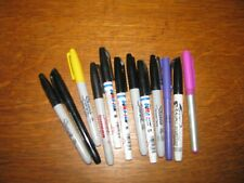 12 ASSORTED COLORS & BRANDS FINE POINT PERMANENT MARKERS