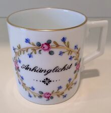 Hochst J.W. von Goethe Hand-Painted Porcelain Cup #1 Made in Germany New