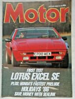 Motor. Car Magazine 25 Jan 1986 Lotus Excel Porsche 928 Ford GT40 Classic Car