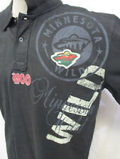 Minnesota Wild Men's Short Sleeve Black Polo Shirt NHL Size Large