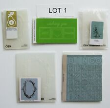 CLEARANCE - Sizzix Embossing Folders - New LOT 1