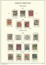 Great Britain Stamp Collection on Lighthouse Page 1896-00 Officials Scv $1129
