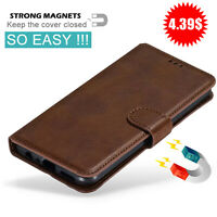 For LG V30 V40 V50 ThinQ 5G Magnetic Leather Wallet Case Flip Stand Card Cover