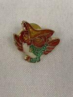 Vintage Owl Pinback Pin New Old Stock