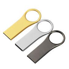 3 Colors 16GB Waterproof USB 2.0 Flash Drive Metal Memory Sticks Thumb Pen Drive