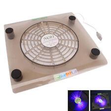 "Laptop 14""-15.4"" USB Cooling Fan LED Light Cooler Pad Translucent Tawny"