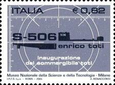 # ITALIA ITALY - 2005 - E.TOTI Sommergibile Submarine U-Boat - Stamp MNH