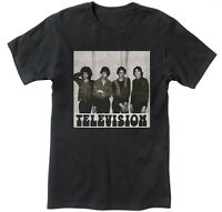Television Band Vintage Punk Rock Men Black T-Shirt NEW S M L XL 2XL 3XL 4XL 5XL