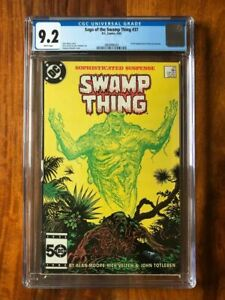 Swamp Thing #37 CGC 9.2 White Pages first full Constantine DC Key