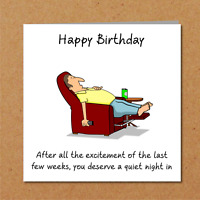 Self Isolation / Quarantine / Lockdown Birthday Card for father/Dad male friend