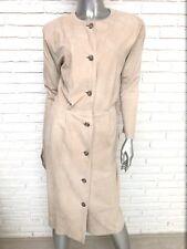 Calvin Klein Classics Beige Lamb Suede Button Front Dress Size 8