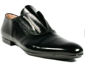 Mens Authentic CESARE PACIOTTI Black Leather Dress Shoes size US 10.5.