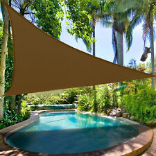 Clevr Outdoor Patio UV Sun Shade Sail 12'x12'x12' Triangle Canopy Cover, Brown
