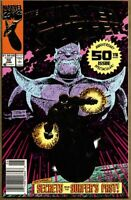 Silver Surfer #50-1991 vf 8.0 Newsstand Variant 1st Standard Foil cover Thanos