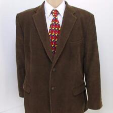 44 R Rafael Brown Corduroy 11 Wale 2 Btn Mens Jacket Sport Coat Blazer