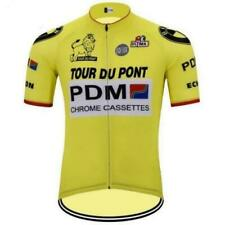 Brand New Retro Team PDM Yellow Cycling Jersey